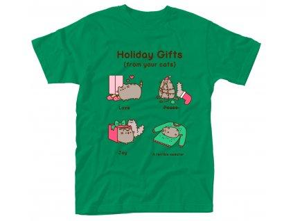 Pánske tričko PUSHEEN HOLIDAY GIFTS (Veľkosť XXL)