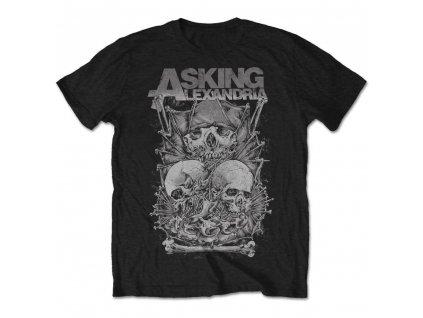 Pánske tričko Asking Alexadria SKULL STACK (Veľkosť XXL)