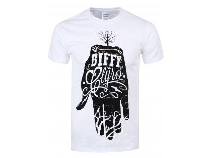 Pánske tričko BIFFY CLYRO WHITE HAND (Veľkosť XXL)