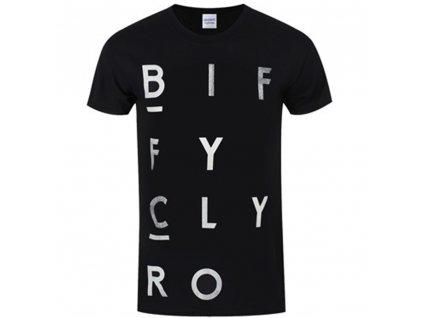 Pánske tričko BIFFY CLYRO BLOCKS LOGO (Veľkosť XXL)