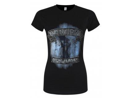 Dámske tričko BON JOVI NEW JERSEY