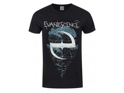 Pánske tričko Evanescence SPACE MAP