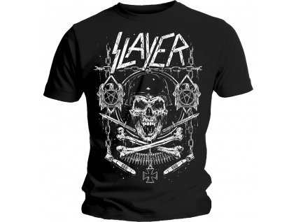 Pánske tričko Slayer Skull & Bones Revised
