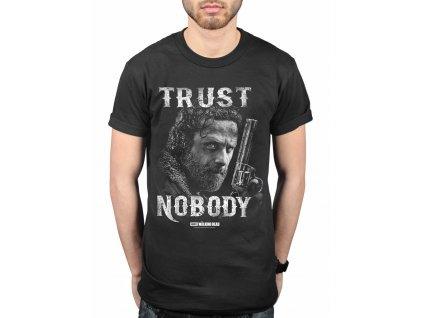 the walking dead trust nobody tshirt blk zpsthyzt4nl