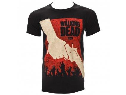 Pánske Tričko THE WALKING DEAD REVOLVER (Veľkosť XXL)