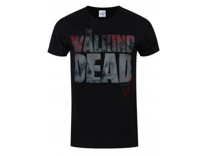 Pánske Tričko THE WALKING DEAD SPLATTER (Veľkosť XXXL)