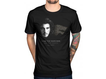 game of thrones watcher on the walls tshirt blk zpsow6sacwr