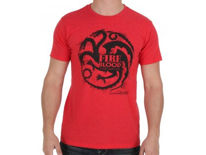 game of thrones fire blood house stencil t shirt