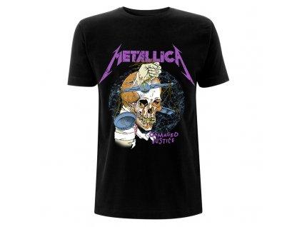 RTMTLTSBDHA Metallica Damage Hammer Black T Front