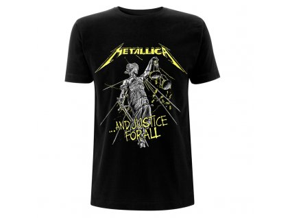 Metallica And Justice For All Tracks Black T Front RTMTLTSBAND
