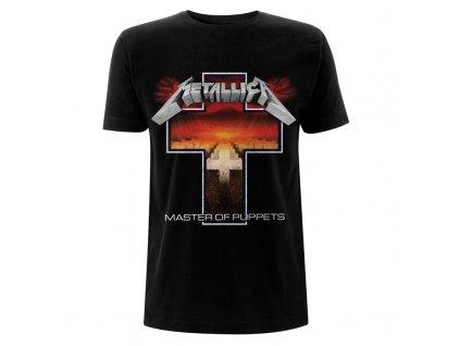 RTMTLTSBCRO Metallica Master Of Puppets Cross Black T