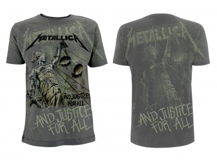 rtmtl099 metallica charcoal justice neon all over t