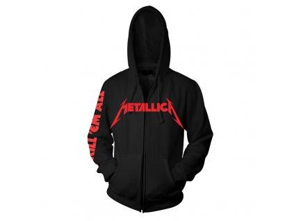 RTMTLEMPZHBKIL Metallica EMP Kill Em All Black Zip Hood Front