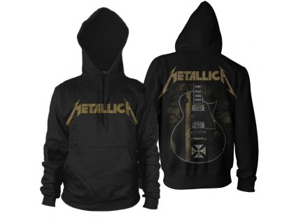 rtmtl067 metallica black hetfield iron cross pullover hood