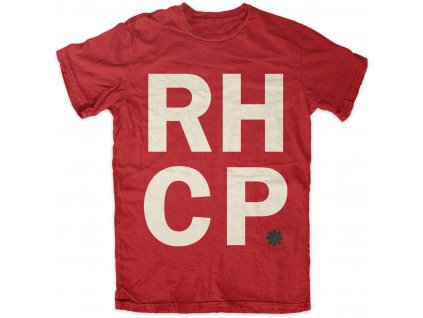 rtrhc006 rhcp red stack mens t