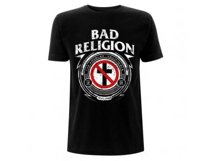 RTBADTSBBAD Bad Religion Badge Black T