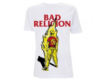 RTBADTSWBOY Bad Religion Boy On Fire White T
