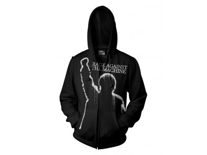 RTRAMZHBBAT RATM BATTLE OF LOS ANGELES BLACK ZIP HOOD FRONT