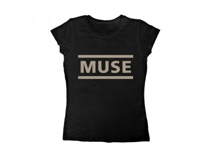 Muse black logo ladies t