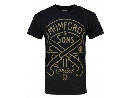 Pánske tričko Mumford & Sons Pistol Label (Veľkosť XXL)