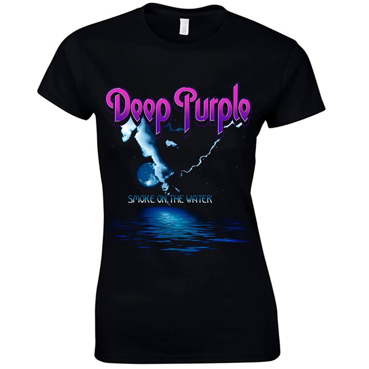 Dámske tričko DEEP PURPLE SMOKE ON THE WATER Veľkosť: S