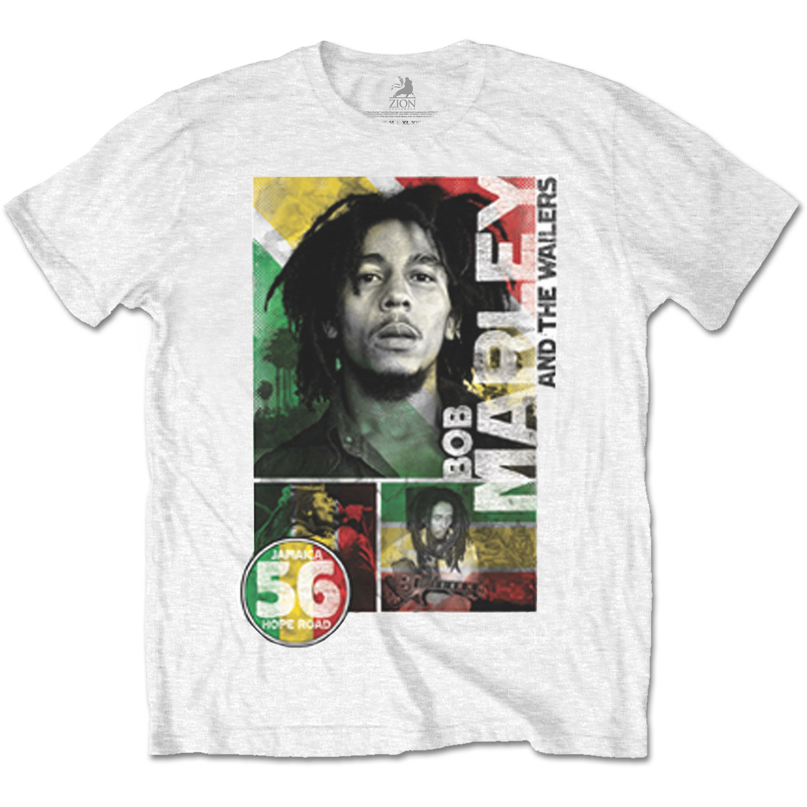 Pánske tričko Bob Marley 56 Hope Road Rasta Veľkosť: S