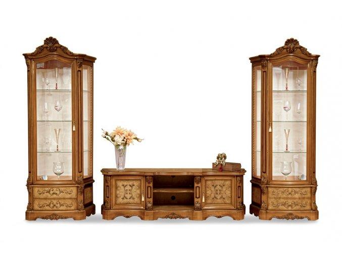 Obývací pokoj Lada TV sestava, stůl, 4 židle