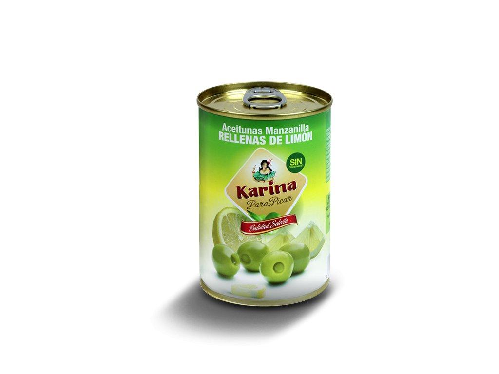 Karina Olivy zelene plnene citronom 295g konzerva