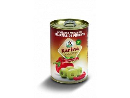 Karina Olivy zelene plnene paprikou 295g konzerva