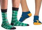 Pánske vzorované ponožky a podkolienky