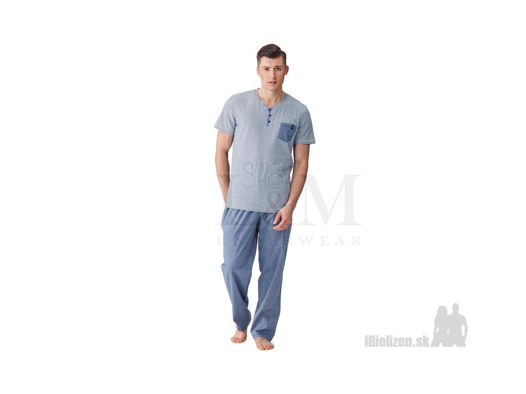 6ae04eec554e Pánske pyžamo - KEY MNS367 B8 - iBielizen.sk