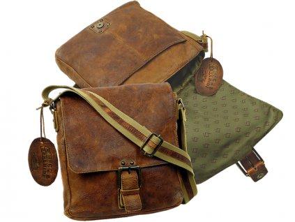 Kožená taška cez rameno - Landleder Rugged-Hide Janis (Casualbag-Unisex)