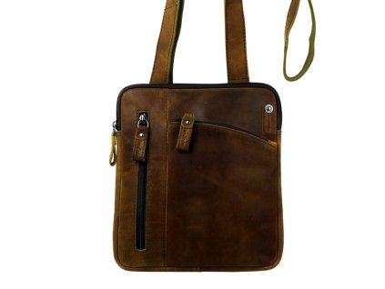 Kožená taška cez rameno - Landleder Grassland Geramo (Crossbag-Unisex)