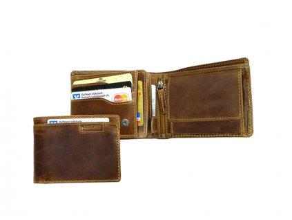 Pánska kožená peňaženka - Landleder Grassland Gero (Flache-Scheintasche)
