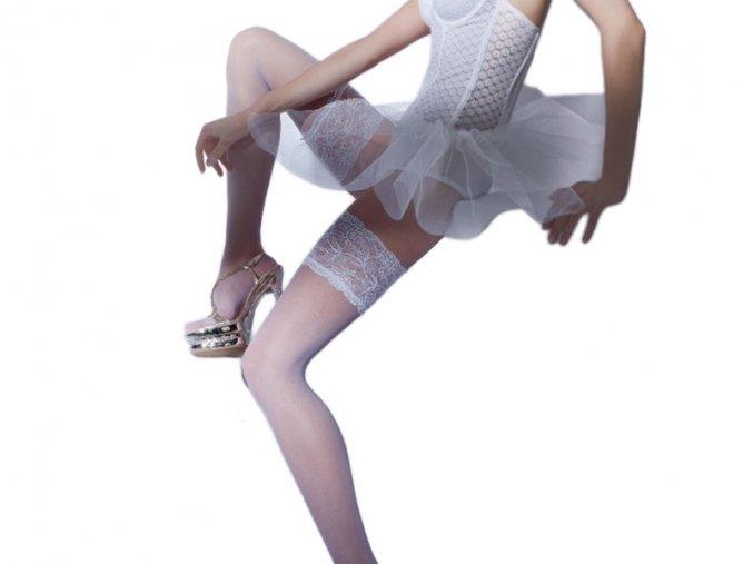 Dámske pančuchy - samonosné - svadobné - Gatta Michelle 03 GW (15 DEN)