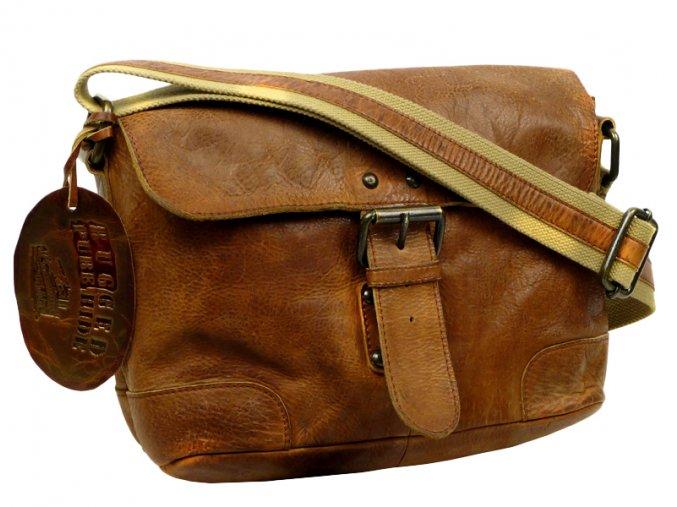 Kožená taška cez rameno - Landleder Rugged-Hide Jantjel (Casualbag-Unisex)