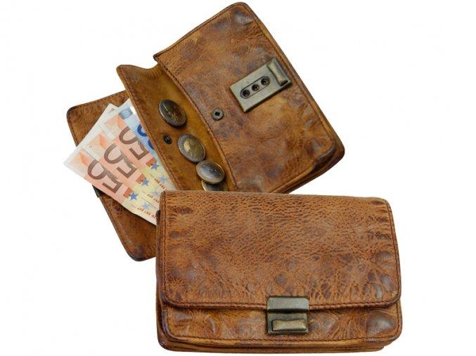 Kožená peňaženka / taška do ruky - Landleder Rugged-Hide Jaber (Casual-Wallet-Unisex)