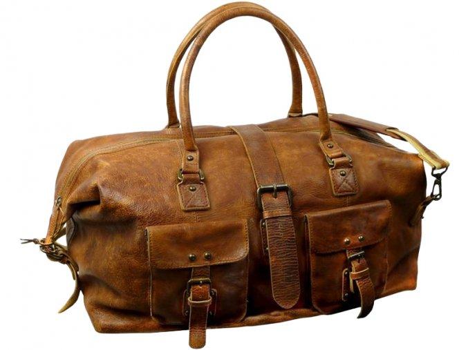 Kožená športová / cestová taška - Landleder Rugged-Hide Jörn (Sport-Weekender-Unisex)