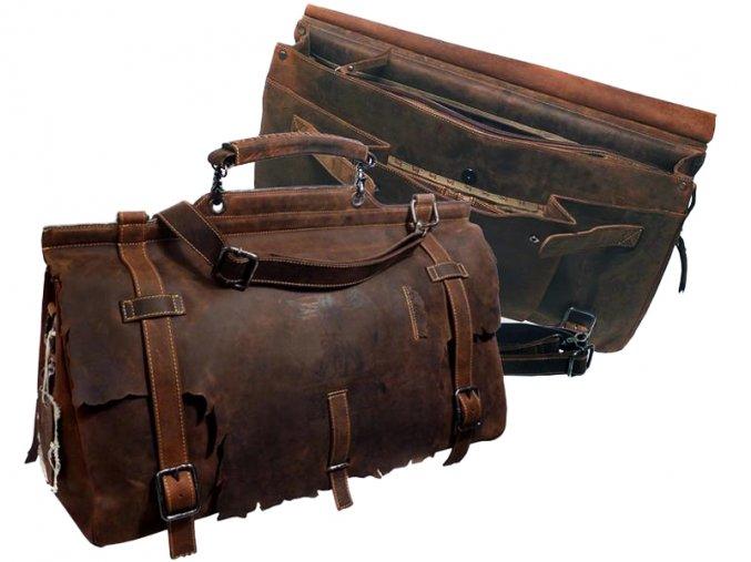 Kožená cestová taška - Landleder Anatomy Iron-Horse (Train-Traveller)