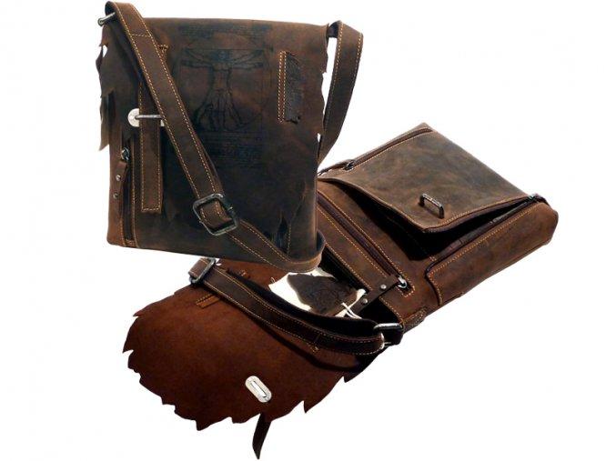 Kožená taška cez rameno - Landleder Anatomy Dalki (Casualbag m. Organizer)