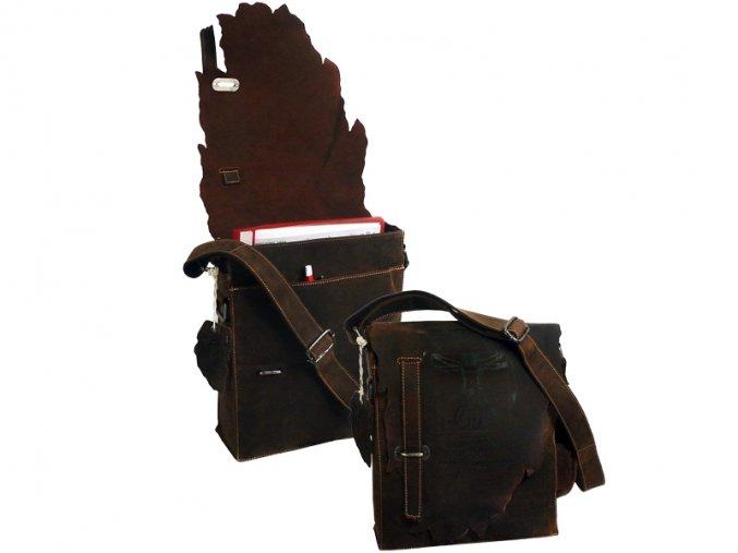 Kožená taška cez rameno - Landleder Anatomy David (Messenger)