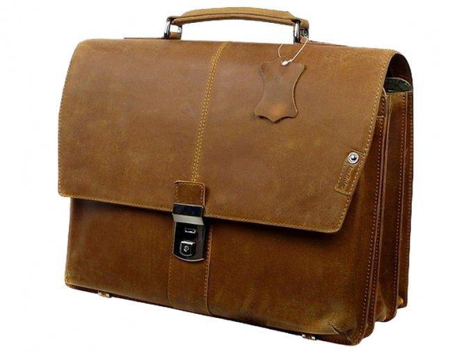 Kožená taška cez rameno - aktovka - Landleder Grassland Joope (Aktenmappe)