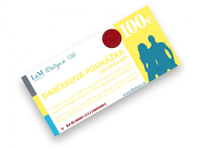 Darčeková poukážka L&M UNDERWEAR | iBielizen.sk | 100 €
