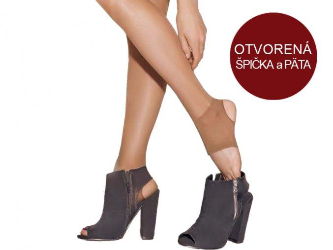 Dámske pančuchové nohavice - Gatta Open Feet (20 DEN)