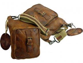 Kožená taška cez rameno - Landleder Rugged-Hide Jamil (Cross-Casualbag)