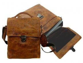 Kožená taška cez rameno - Landleder Rugged-Hide Jamal (Messengerbag)