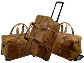 Kožená cestová taška na kolieskach - Landleder Grassland Jillis (Trolley-Weekender)