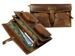 Kožená peňaženka / taška do ruky - Landleder Grassland Valenta (Kuvertbörse)