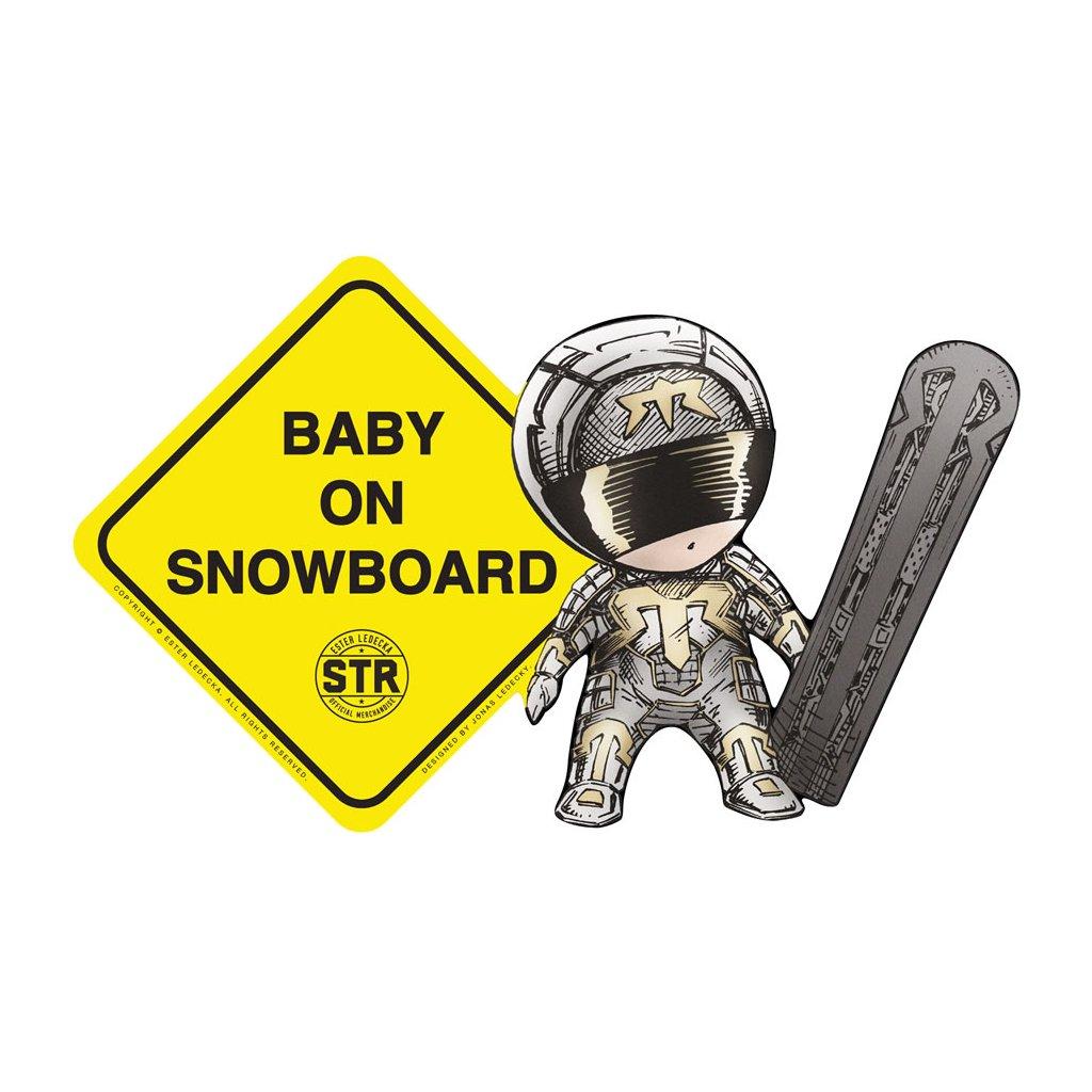"""Ester Ledecká: Samolepka na auto """"Baby on snowboard"""""""