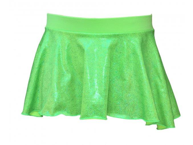 Krasosukýnka PREMIUM Green Lurex